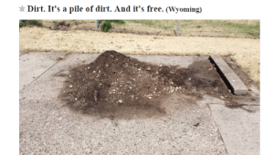 Tumblr, Blog, and Free: Dirt. It's a pile of dirt. And it's free. (Wyoming) crustyhoodrat: