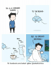 Facebook, Wee, and facebook.com: DIS 15 A STRESSED  HumAn  TO THE RESCUE  RAIn  noT S0 STRESSED  Veee  Wooo  Wee.  Weee  Wooo  fb: facebook.com/sskait ig&tw: @sskaitcomics <p>Rainy season 🌧️☕🚑 /</p>
