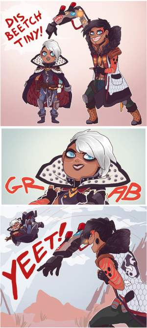 mmthemayoarts:  This comic is a Commission for edenmiasma on twitter :> Best kind of commission, I love any occasion to draw these 2 again :D: DIS  BEETCH  TINY!   GR   YEET mmthemayoarts:  This comic is a Commission for edenmiasma on twitter :> Best kind of commission, I love any occasion to draw these 2 again :D