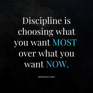 RT @danielallyway: https://t.co/xvGCKeRgeY: Discipline is  choosing what  you want MOST  over what you  want NOW.  @DANIELALLYWAY RT @danielallyway: https://t.co/xvGCKeRgeY
