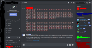 Discord? I'm not direct messaging anyone.: DISCORD  # spam  Search  PREMIER-1  Today at 6:29 PM  An adventure begins.  Let's add some party members!  DEPUTY PREMIER–1  Invite People  RUSSISCHE ROBOTS-5  v BELANGRIJK  communist bot [] BOT  test  Playing dyno.gg| ?help  # belangerijke-dingen-ok-i...  wtf  Comrade Gopbot BOT  # welkom  # regels  Comrade MEE6 &... BOT  v TEXT CHANNELS  music ] вот  # praten  pls meme BOT  O Playing pls help  # meme  Clyde BOT Today at 6:30 PM  Your message could not be delivered because you don't share a server with the recipient or you disabled  direct messages on your shared server, recipient is only accepting direct messages from friends, or you  # tellen  ONLINE-1  # spam  were blocked by the recipient.  Only you can see this - delete this message.  v VOICE CHÀNNELS  OFFLINE-7  # praten-met-geen-mic  O vu afk  Message #spam  GIF Discord? I'm not direct messaging anyone.