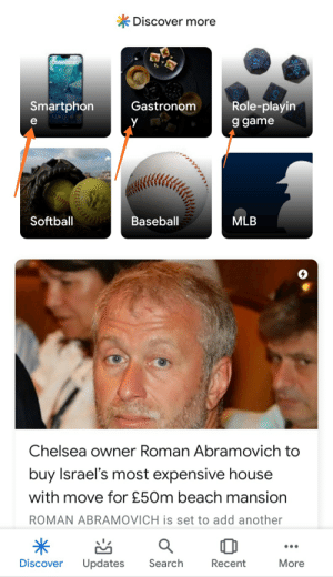 Baseball, Chelsea, and Fail: *Discover more  07:00  Role-playin  Smartphon  Gastronom  y  9 game  Softball  Baseball  MLB  Chelsea owner Roman Abramovich to  buy Israel's most expensive house  with move for £50m beach mansion  ROMAN ABRAMOVICH is set to add another  Discover  Updates  Search  More  Recent How do you fail typing on your own site?