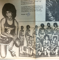 Prince was a baller way before he became a music icon ☔️ RIP (via StribJany-Twitter): discovered in hlgllUll  aroused and perhaps sexuality at an early age  His dad left when about 10  and soon thereafter a ste  came  into the picture and Pr  didn't get  along with him, he has sad. So Prince  Prince  RRYANT  BRTART  31 Prince was a baller way before he became a music icon ☔️ RIP (via StribJany-Twitter)