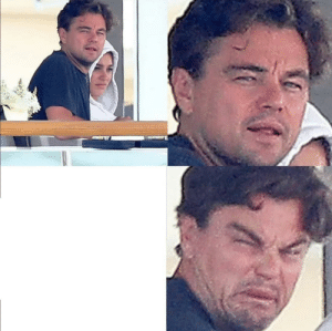 Disgusted Dicaprio: Disgusted Dicaprio
