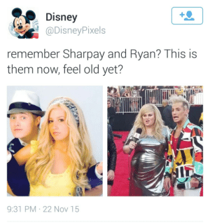 Old Yet: Disney  @DisneyPixels  remember Sharpay and Ryan? This is  them now, feel old yet?  9:31 PM · 22 Nov 15