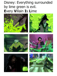 omg!: Disney: Everything surrounded  by lime green is evil.  Every Villain Is Lime omg!