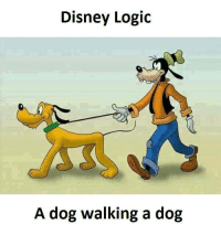 Dog Walk: Disney Logic  A dog walking a dog