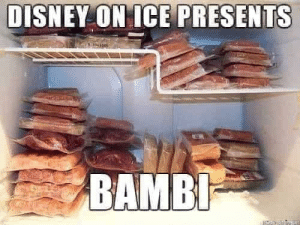 Ah yes my favorite disney meal: DISNEY ON ICE PRESENTS  BAMBI- Ah yes my favorite disney meal