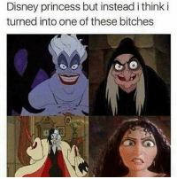 They had more fun anyway: Disney princess but instead i think i  turned into one of these bitches They had more fun anyway
