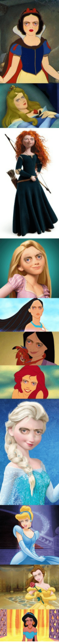 Disney, Steve Buscemi, and Disney Princesses: Disney Princesses but with Steve Buscemis eyes