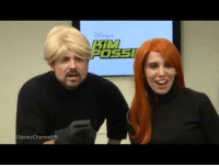Kim Possible, Live, and Kim: DisneyChannelPR <p>Christy Carlson Romano and Will Friedle try their hand at reprising their roles for the live action Kim Possible 😂</p>