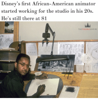 "IF YOU'RE a fan of classics like Sleeping Beauty, The Jungle Book or the Toy Story movies, you've got animator Floyd Norman to thank. . In the 1950s Floyd started working for Disney, he was in his 20s and became the studio's first African American animator, helping bring the company's classics to life. . Now 81, Floyd still works for Disney. . When he turned 65, Floyd says Disney tried to force him to retire, but he wouldn't have it. ""I wanted to continue to work,"" he says. ""You see, creative people don't.... . Read the full story on our site (link in bio) . YoungEmpireVintage 👑: Disney's first African-American animator  started working for the studio in his 20s  He's still there at 81  THEY OUN GEM PIRE IF YOU'RE a fan of classics like Sleeping Beauty, The Jungle Book or the Toy Story movies, you've got animator Floyd Norman to thank. . In the 1950s Floyd started working for Disney, he was in his 20s and became the studio's first African American animator, helping bring the company's classics to life. . Now 81, Floyd still works for Disney. . When he turned 65, Floyd says Disney tried to force him to retire, but he wouldn't have it. ""I wanted to continue to work,"" he says. ""You see, creative people don't.... . Read the full story on our site (link in bio) . YoungEmpireVintage 👑"