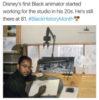 Younes: Disney's first Black animator started  working for the studio in his 20s. He's still  there at 81  #BlackHistory Month  THE YOUN GEMPIRE