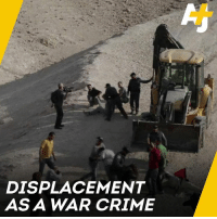 Crime, Memes, and Israel: DISPLACEMENT  AS A WAR CRIME Israel is about to demolish this Palestinian village. The International Criminal Court says the act could be a war crime.