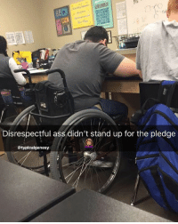 and why does he get a chair with wheels? 😴 thats unfair boii you better get to walkin 😤 - Follow me @hoodcumedy for more posts 💀: Disrespectful ass didn't stand up for the pledge  @typicalgenesy and why does he get a chair with wheels? 😴 thats unfair boii you better get to walkin 😤 - Follow me @hoodcumedy for more posts 💀