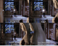 Rustling: (distant rustling )  What was that  Uh. huh  Probably a zombi  or vampire  Great. Where's Buffy  when you need her