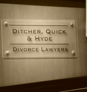 Lawyer, Divorce, and Lawyers: DITCHER, QUICHK  & HYDE  DIVORCE LAWYERS Need a divorce lawyer? Look no further