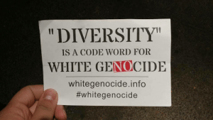 "Cars, Fucking, and Target: ""DIVERSITY  IS A CODE WORD FOR  WHITE GENOCIDE  whitegenocide.info  omgsamchap:  itacest-trash: yuleagin-nova:  conflictavoider:  conflictavoider:  fucking great, neo nazi jimmy marr left these on cars at the mall in eugene fucking scumbag   heres this assholes address btw, thanks to local antifa  No Anonymity for Nazi Trash.No Sanctuary for Fascism.  this is awful but is sharing their address necessary? what if someone goes over there and kills them?  Then I'll mail the killer a card and an edible arrangement??"