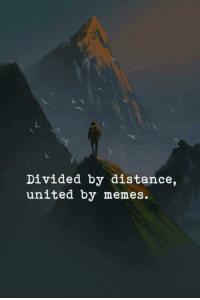 Memes, United, and Dank Memes: Divided by distance,  united by memes.