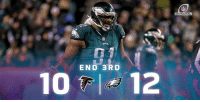Philadelphia Eagles, Memes, and 🤖: DIVISIONAL  END 3RD  10 12 15 minutes left to play... @Eagles up 2!   📺: NBC #ATLvsPHI #NFLPlayoffs https://t.co/oYOOwhAA3l