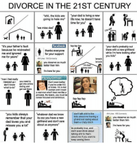 """Memes, Talking Shit, and Hate Me: DIVORCE IN THE 21ST CENTURY  shit, the kids are  """"your dad is living a new  going to hate me life now, he doesn't have  time for you""""  """"we miss dad  facebook  fap fap fap  """"it's your father's fault  """"your dad's probably out  because he mistreated  there with a new girlfriend  thanks everyone  while i'm here looking after  me and ignored  for your support  you kids""""  me for years  494 Likes 156 Comments  knock  knock  you deserve so much  """"it's bed  better than him  time kids'  woof  I'm here for you  Plenty of Fish  """"man i feel really  messed up i you need to  Don't even bother  get into online  if you're under 62  don't know  what to do  dating and  or broke. I'm a real  get out there  woman and I need  a real man who'll treat me like a  princess. No losers, you must be  career focused and ambitious.  fap fap fap  don't talk shit to the  """"you kids always  whatever dad we know  494 Likes 156 Comments  kids about me having a  you deserve so much  remember that your  ts coz you have a new  gf and not caring about  better than him  dad loves you and  girlfriend and don't care  them u crazy bitch  misses you a lot""""  about us anymore""""  I'm here for you  its probably true, and  don't even think about  talking shit to them  about me if you want to  keep seeing them Not funny, just real."""