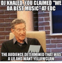 """DJ Khaled, Memes, and Best: DJ KHALED,YOU CLAIMED """"WE  DA BEST MUSIC""""ATEDC  THE AUDIENCE,DETERMINED THAT WAS  A LIEANDIWANT YELLO WCLAW """"We da Best"""""""