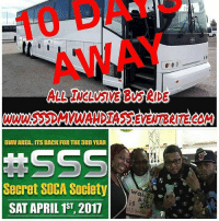 EzRepost @playboypooh with @repostigapp ONLY 10 DAYS AWAY... SECURE YOUR SEAT WHILE THEY LAST CUZ ITS A LONG WALK TO THE DMV 😂😂😂 SSSDMV2017 SSS WAHDIASSISDIS DMV DohStickGetYuhTix: DMU AREA ITS BACK FOR THE 3RD YEAR  Secret SOCA Society  SAT APRIL 1ST, 2017  Wah Di  is DiSU EzRepost @playboypooh with @repostigapp ONLY 10 DAYS AWAY... SECURE YOUR SEAT WHILE THEY LAST CUZ ITS A LONG WALK TO THE DMV 😂😂😂 SSSDMV2017 SSS WAHDIASSISDIS DMV DohStickGetYuhTix