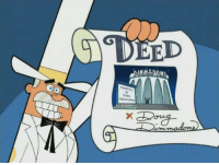 The name's Doug Dimmadome, owner of the Dimmsdale Dimmadome! ~Banana: DO  EED  DIMMADOME The name's Doug Dimmadome, owner of the Dimmsdale Dimmadome! ~Banana