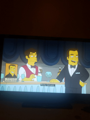 The Simpsons did it again.: DO NOT ALLOW  THIS MAN TO HOST  Ricky Gervais. The Simpsons did it again.