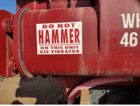 Funny, Work, and Vibrator: DO NOT  HAMMER  46  ON THIS UNIT  USE VIBRATOR My work truck requires a gentle lover