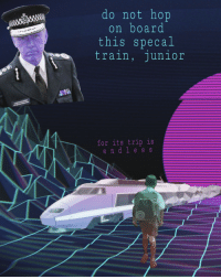 "<p>[<a href=""https://www.reddit.com/r/surrealmemes/comments/7p0d5q/p_s_a/"">Src</a>]</p>: do not hop  on board  this specal  train  , junior  COMMISSIONER  for its trip is  d l e s s  e n <p>[<a href=""https://www.reddit.com/r/surrealmemes/comments/7p0d5q/p_s_a/"">Src</a>]</p>"