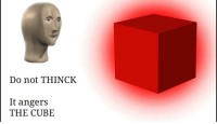 "Reddit, Com, and Cube: Do not THINCK  It angers  THE CUBE <p>[<a href=""https://www.reddit.com/r/surrealmemes/comments/8dpgm0/a_n_g_e_r_s/"">Src</a>]</p>"