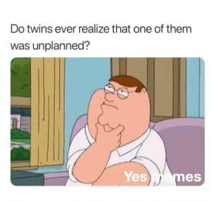 Memes, Twins, and 🤖: Do twins ever realize that one of them  was unplanned?  Yesemes 🤣👌