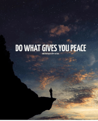 Hustler, Memes, and Money: DO WHAT GIVES YOU PEACE  MillionaireDivision Do what gives you peace. millionairedivision - - - - - - success entrepreneur inspiration motivation business boss luxury wisdom entrepreneurship billionaire millionaire hustler quotes quote money ambition hustle wealth quoteoftheday ceo startup businessman dream rich luxurylife workhardplayhard winner