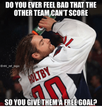 Holtby has the best playoff beard and flow of a goalie that I've ever seen: DO YOU EVER FEEL BAD THAT THE  OTHER TEAM,CAN'T SCORE  @nhl_ref_logic  HOLTBY  SO YOU GIVE THEM'A FREE GOAL? Holtby has the best playoff beard and flow of a goalie that I've ever seen