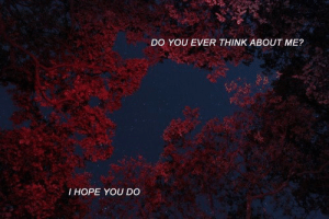 Hope, Think, and You: DO YOU EVER THINK ABOUT ME?  I HOPE YOU DO