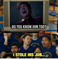 Memes, Movies, and Regret: DO YOU KNOW HIM TOO?  I STOLE HIS JOB... And fans couldn't be happier. 😂 Sorry, Andrew... does anyone actually regret the fact that we'll never see an Amazing Spider-man 3? I was *really* looking forward to those Sinister Six and Aunt May solo movies. 🙄 -- Repost from @8comics! SpidermanHomecoming