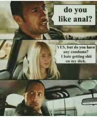 Shit on my dick anal