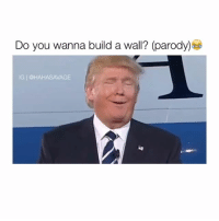 Parody, Walle, and Build A: Do you wanna build a wall? (parody)  IG I @HAHASAVAGE Please no 😂😭 Credit: @derickwattstagram