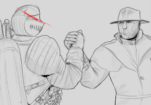 doc-art:  The Pursuer and Mr. X, big dudes who chase the protagonist around.: doc-art:  The Pursuer and Mr. X, big dudes who chase the protagonist around.