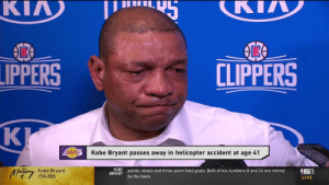 Doc Rivers broke down in tears talking about Kobe Bryant 😭 https://t.co/FXXZ47nwwq: Doc Rivers broke down in tears talking about Kobe Bryant 😭 https://t.co/FXXZ47nwwq