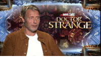Memes, Nerd, and Mad: DOCTOR  STRANGE Mads Mikkelsen (Kaecilius) is interviewed about the film Doctor Strange.  (Nerds Love Art)
