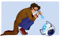 Doctor Who and Portal crossover? Yes plz. #SherlockIsDeducingYourButt
