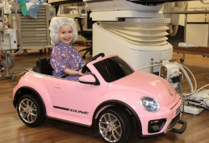 Driving, California, and Medical: Doctors Medical Center in Modesto, California, have their little patients enter the operating room in style by driving into the surgery room.