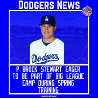 Brock Stewart is ready for baseball to start like all of us! | Source- Dodger Blue Tags- BrockStewart SpringTraining Dodgers LA ITFDB WeLoveLA LosAngeles DodgersNews: DODGERS NEWS  P BROCK STEWART EAGER  TO BE PART OF BIG LEAGUE  CAMP DURING SPRING  TRAINING  DODGERS.NETWORK Brock Stewart is ready for baseball to start like all of us! | Source- Dodger Blue Tags- BrockStewart SpringTraining Dodgers LA ITFDB WeLoveLA LosAngeles DodgersNews