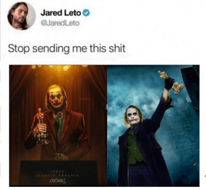 Does it depress you Leto? To know just how alone you really are. Does it make you feel responsible for Joaquin Phoenix's current predicament?: Does it depress you Leto? To know just how alone you really are. Does it make you feel responsible for Joaquin Phoenix's current predicament?