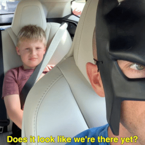 Instagram, Memes, and 🤖: Does it look like we're there vet? Ben: Are we there yet? BatDad: Does it look like we're there yet? Ben: No. BatDad: Then why did you ask me? Ben: Just to annoy you.  Follow us on Instagram please! - batdadblake