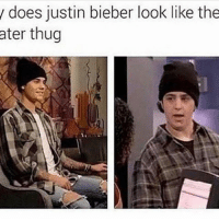 The resemblance is striking: does justin bieber look like the  ater thug The resemblance is striking