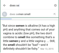why does cum smell fishy