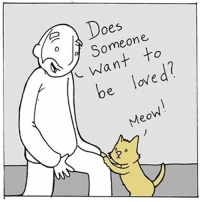 Memes, Link, and 🤖: Does  Someone.  L Want to  be loved?  Meow New comic on Webtoons about loving... link to full comic in my profile. Thanks!